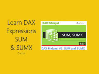 SUM and SUMX - Curbal