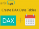 DAX Date Tables