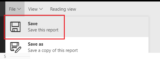 Save Changed Report