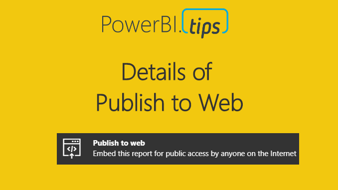 Publish to Web