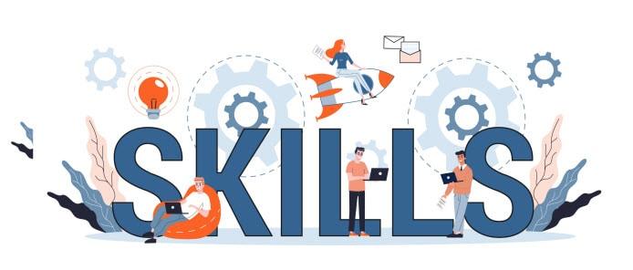 Skills Image people working on computers