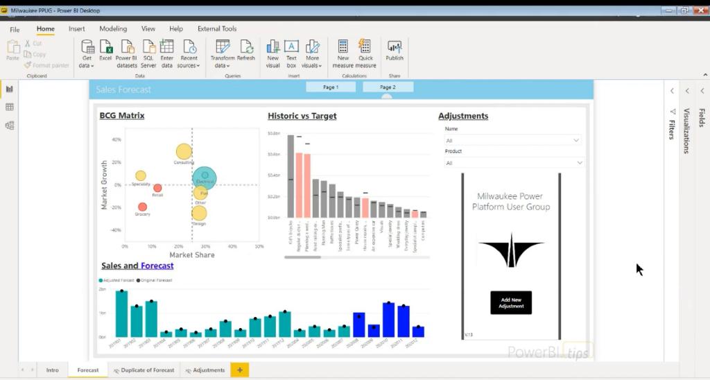 Power BI, Power App embedded one report