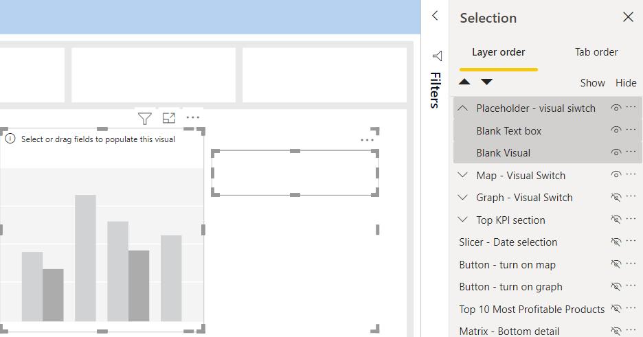 Power BI Bookmark tips: Grouping visuals